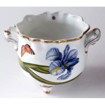 Studio Collection Floral Round Ruffled Cachepot 5.75 in High