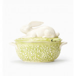 Bellezza Spring Bunny Soup Tureen With Ladle