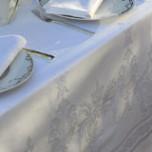 Beauregard White Damask Table Linens