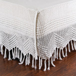 Vintage Crochet Bedskirt
