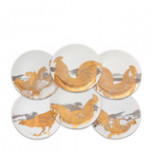 Roosters Gold/Platinum Canapes Mixed Boxed Set/6 | Gracious Style