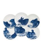 Rabbits Blue Canapes Mixed Boxed Set/6 | Gracious Style