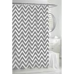Chevron Shower Curtain - Grey/White