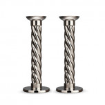 Carrousel Nickelplate Candlesticks Large (Set of 2)