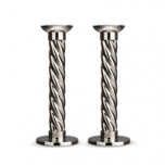 Carrousel Nickelplate Candlesticks Large (Set of 2) | Gracious Style