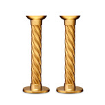Carrousel Gold Candlesticks Large (Set of 2)