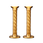 Carrousel Gold Candlesticks - Large, Pair 8 in | Gracious Style