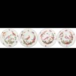 Chelsea Bird Rim Soup, Set Of Four