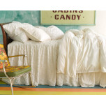 Candlewick Dove White Cotton Bedding | Gracious Style