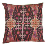 Bombay Raspberry Throw Pillow 22 in Sq
