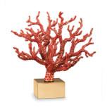 Coral Centerpiece w/Semi Precious Red Cabochons