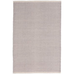 Herringbone Dove Grey Woven Cotton Rug