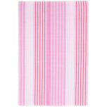 Pink Sand Ticking Woven Cotton Rug