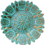Vietri Damask Glass Aqua Bowls & Platters | Gracious Style