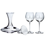Dionys Red Wine Decanter Set, Clear