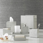 Delano Silver Bath Accessories | Gracious Style