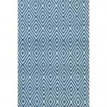 Diamond Denim/White Indoor/Outdoor Rug | Gracious Style