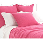 Diamond Matelasse Flamingo Cotton Coverlet
