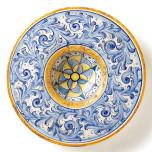 Flora Blu Large Round Wall Plate