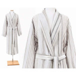 Gradation Linen Bathrobe Medium/large