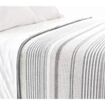 Gradation Ticking Striped Cotton Blanket