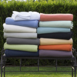 Grant Woven-Stripe Cotton Blanket | Gracious Style