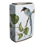 Rectangular Vase with Bird