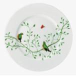 Wing Song Dessert Plate Green Bird