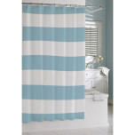 Hampton Stripe Shower Curtain Spa Blue