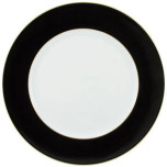 Horizon Black with Gold Filet Buffet Plate 12.25 in Round