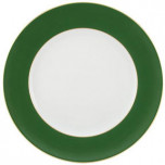Horizon Green with Gold Filet Buffet Plate 12.25 in Round
