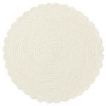Crochet Round Placemat Whitewash 16