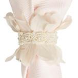Petal and Pearl Napkin Ring Vanilla 3