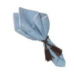 Josephine Linen Cotton Crossweave Napkin Blue 22