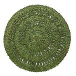 Straw Loop Round Placemat Green Tea 16