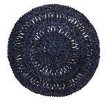 Straw Loop Round Placemat Navy Blue 16