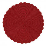 Crochet Round Placemat Ruby 16