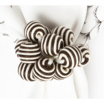 Stripe Bead Bouquet Napkin Ring Espresso 3