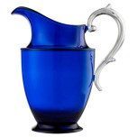 Federica Blue Pitcher 8.5 in High 40.5 oz