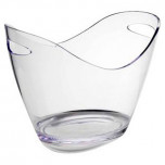 Acrylic Champagne Basket Small Clear 10.5 in 8.25 in High
