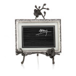 Black Orchid Easel Picture Frame