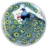 Peacock Feather Dinnerware