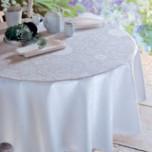 Appoline White Green Sweet Stain-Resistant Damask Table Linens
