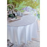 Appoline White Green Sweet Stain-Resistant Table Linens