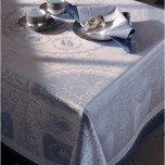 Bagatelle Flanelle Green Sweet Stain-Resistant Damask Table Linens | Gracious Style