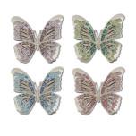 Butterflies Platinum Napkin Rings