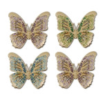Butterflies Gold Napkin Rings | Gracious Style