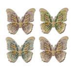 Butterflies Gold Napkin Rings