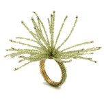 Spider Beaded Burst Napkin Rings - Celadon