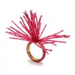 Spider Bead Burst Fuchsia Napkin Rings